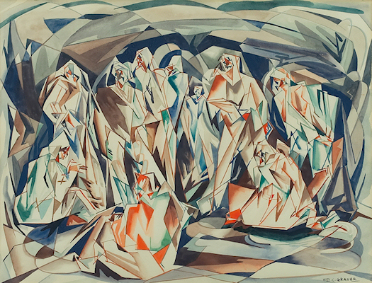William Grauer Cubist Figures